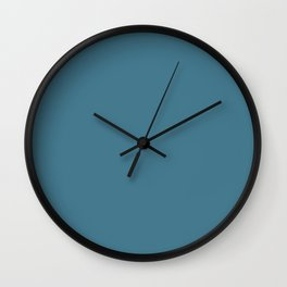 Jelly Bean Blue - solid color Wall Clock