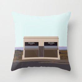 Marfa Installation: A digital illustration Throw Pillow