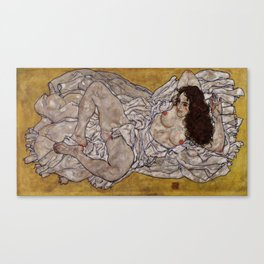 "Egon Schiele ""Reclining Woman"" Canvas Print"