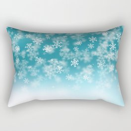 Falling Snowflakes Rectangular Pillow