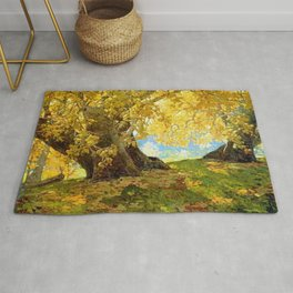 Sycamore in Autumn, Orange County Park Landscape by Edgar Alwin Payne Rug