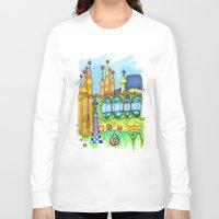 barcelona Long Sleeve T-shirts featuring Barcelona by Aleksandra Jevtovic