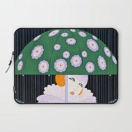 """Green Umbrella"" Art Deco Design Laptop Sleeve"