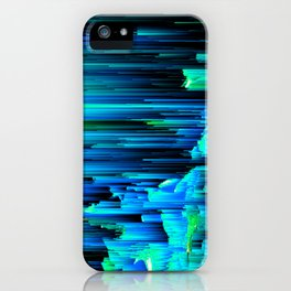 Can't Take the Sky From Me - Abstract Glitch Pixel Art iPhone Case