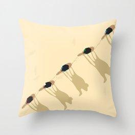 Camel caravan Throw Pillow