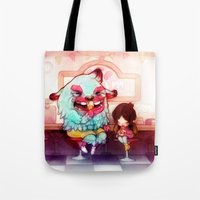 tooth Tote Bags featuring Sweet Tooth by FlyOkay