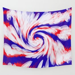 USA Red White Blue swirl Wall Tapestry