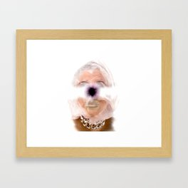 Funky Portrait Framed Art Print
