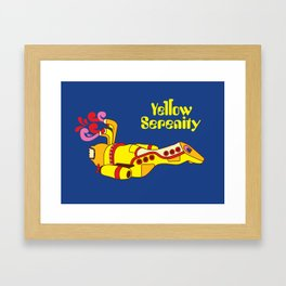 Yellow Serenity Framed Art Print