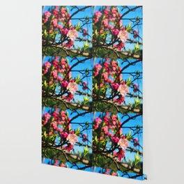 Grandma's Pink Flowers Wallpaper