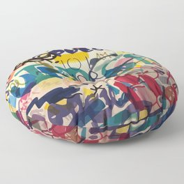 Urban Graffiti Paper Street Art Floor Pillow