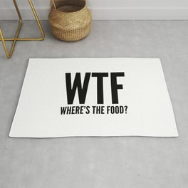 WTF Where's The Food Rug