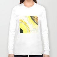 kitchen Long Sleeve T-shirts featuring Kitchen Flowers  by Ethna Gillespie