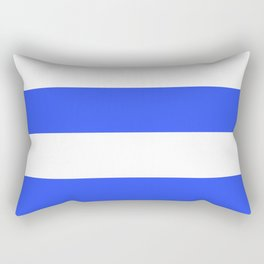 Even Horizontal Stripes, Blue and White, XL Rectangular Pillow