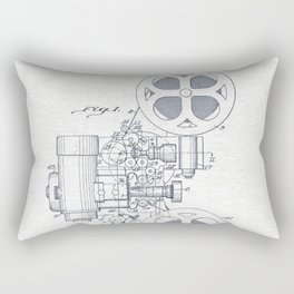 Movie projector Rectangular Pillow