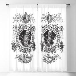 1861 Death Skeleton Black Blackout Curtain