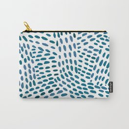 Watercolor  dotted lines - dark blue  Carry-All Pouch