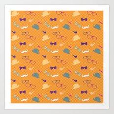 Hipster Pattern Art Print