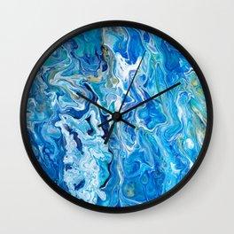 Elegant Crazy Lace Agate 6 - Ocean Blue Wall Clock
