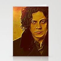 jack white Stationery Cards featuring Jack White by yahtz designs