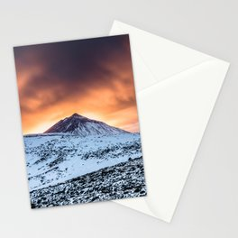 Golden hour sunset in Teide National Pak Stationery Cards