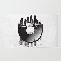 carnage Area & Throw Rugs featuring Urban Vinyl by Sitchko Igor