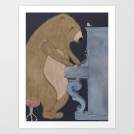 boogie bear Art Print