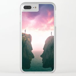 Love finds a way Clear iPhone Case