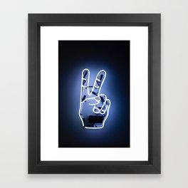 Neon Peace Framed Art Print