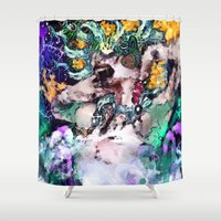 ursula Shower Curtains featuring Ursula  by RDsix3