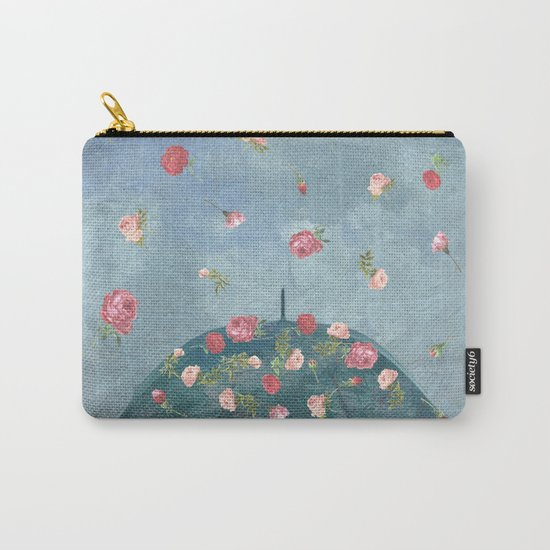 I Wished for a Rose Rain for You Carry-All Pouch