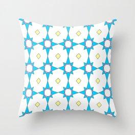 symetric patterns 37 -mandala,geometric,rosace,harmony,star,symmetry Throw Pillow
