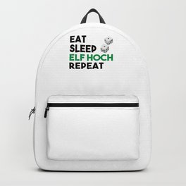 Eat Sleep Elf High Repeat for dice players Backpack