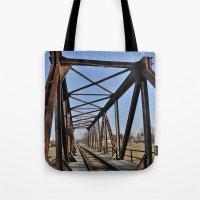 bridge Tote Bags featuring Bridge by Falko Follert Art-FF77