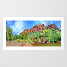 Oak Creek at Red Rock Crossing Art Print