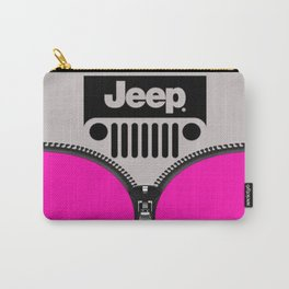 Jeep Pink Zipper Carry-All Pouch