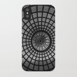 Tiffany Glass Dome Black/White Photography iPhone Case