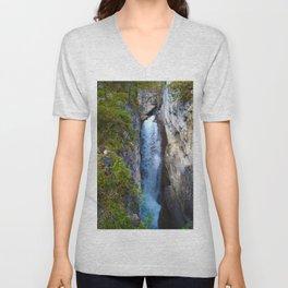 Stanley Waterfall & Beauty Creek, Jasper National Park Unisex V-Neck