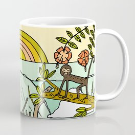 wild things in costa rica surf paradise art by surfy birdy Coffee Mug