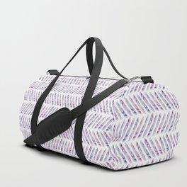 Herringbone - in purple watercolour Duffle Bag