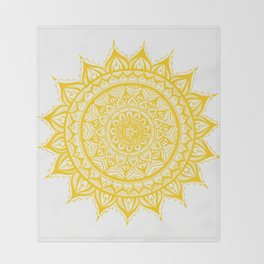 Sunflower-Yellow Throw Blanket
