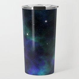 Blue Green Galaxy Travel Mug