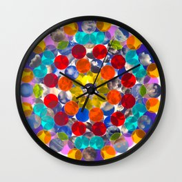 rainbow cloud cluster collage Wall Clock