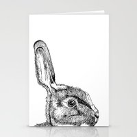 hare Stationery Cards featuring Hare by E.K Lux