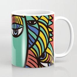The Empress Pop Art Cubism Tarot Card by Emmanuel Signorino Coffee Mug