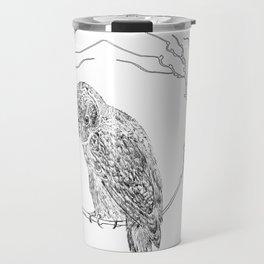 Owl In Tree (Print) Travel Mug