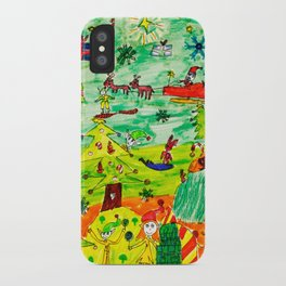 Christmas Village | Painting by Elisavet iPhone Case