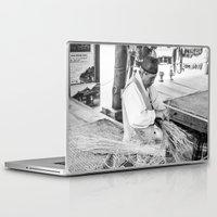 korean Laptop & iPad Skins featuring Korean Traditional Craftsman by Jennifer Stinson
