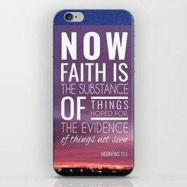 Hebrew 11:1 iPhone Skin