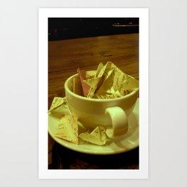 writer's cup Art Print